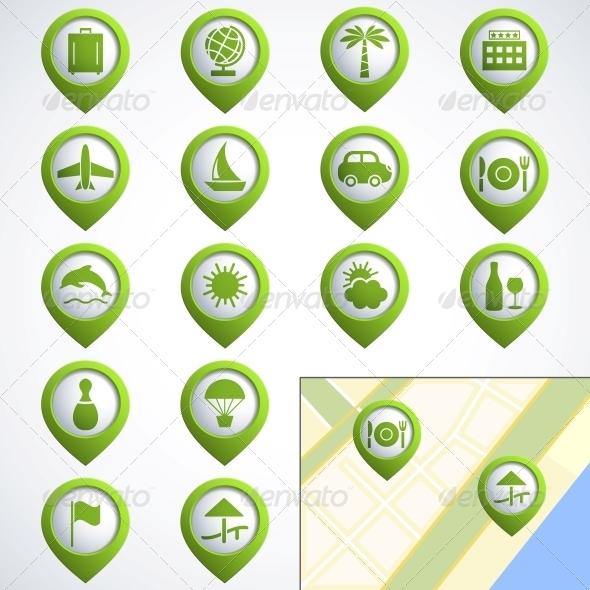 Travel web icons - Travel Conceptual