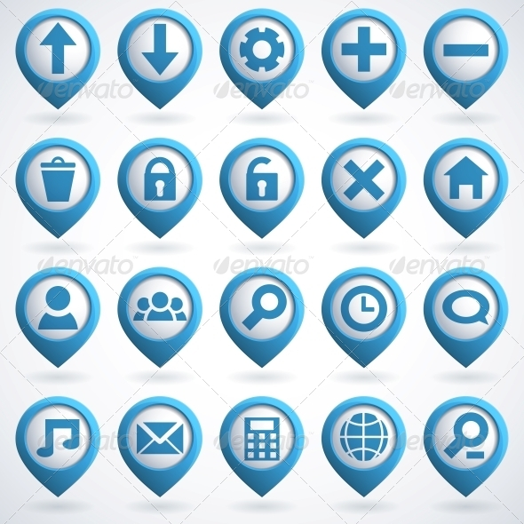 Web Icon Set - Web Elements Vectors