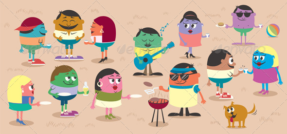 BBQ - People Characters