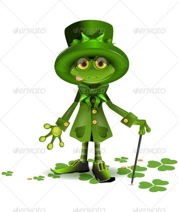 Saint Patrick's Frog - Seasons/Holidays Conceptual