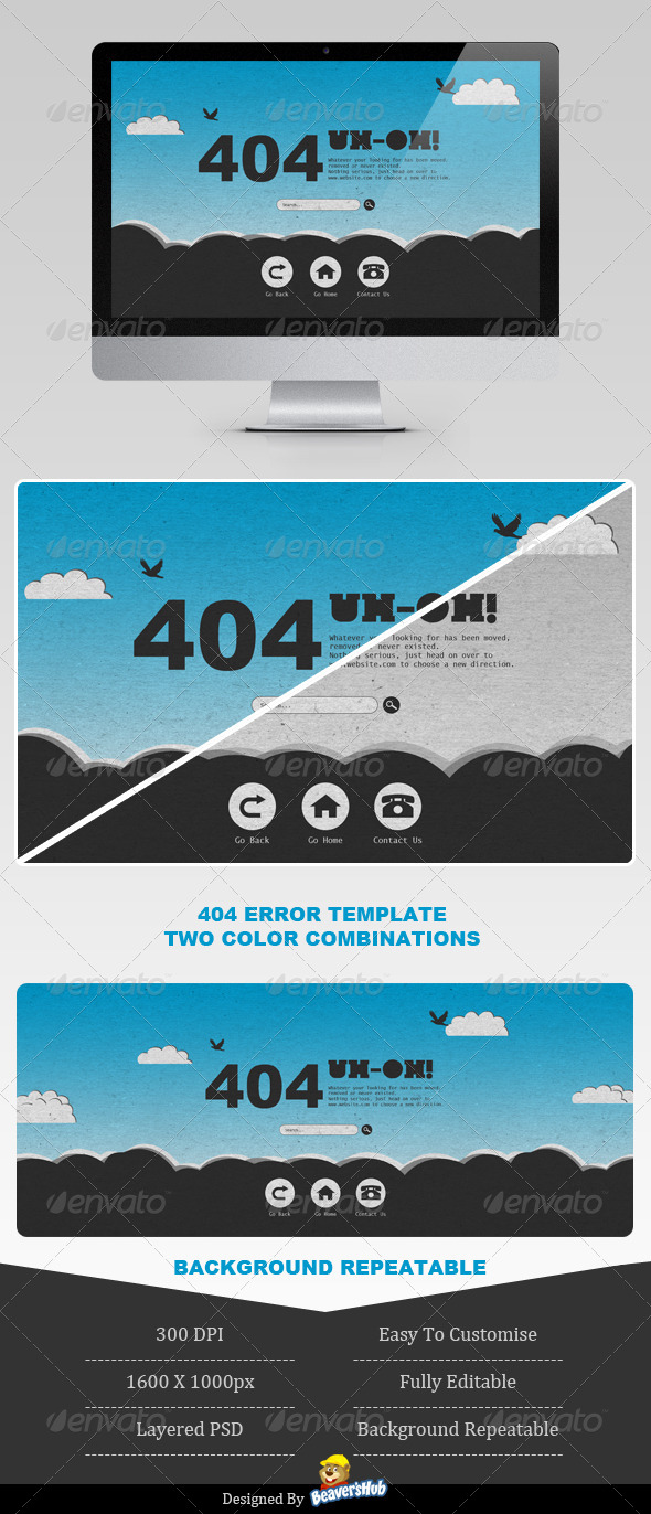 Sky High 404 Error Page - 404 Pages Web Elements