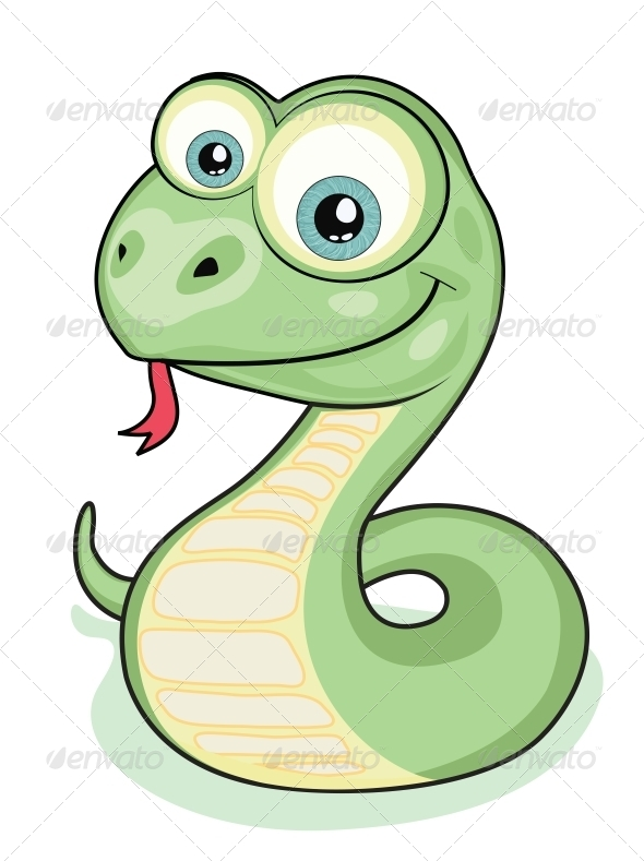 Smiling snake - Animals Characters