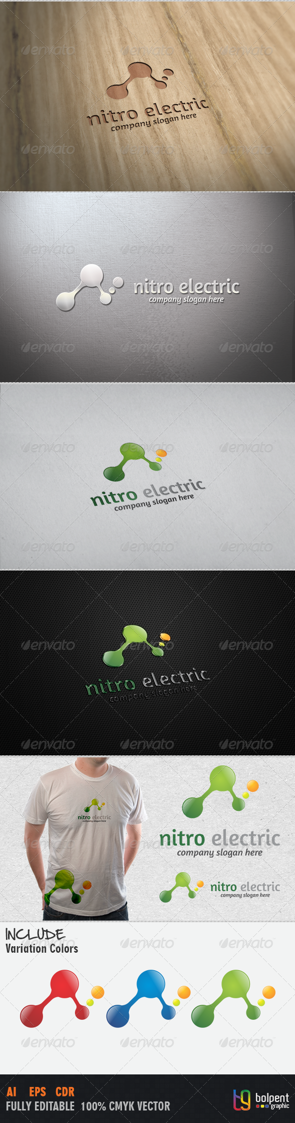 Nitro Electric Logo Template - Vector Abstract