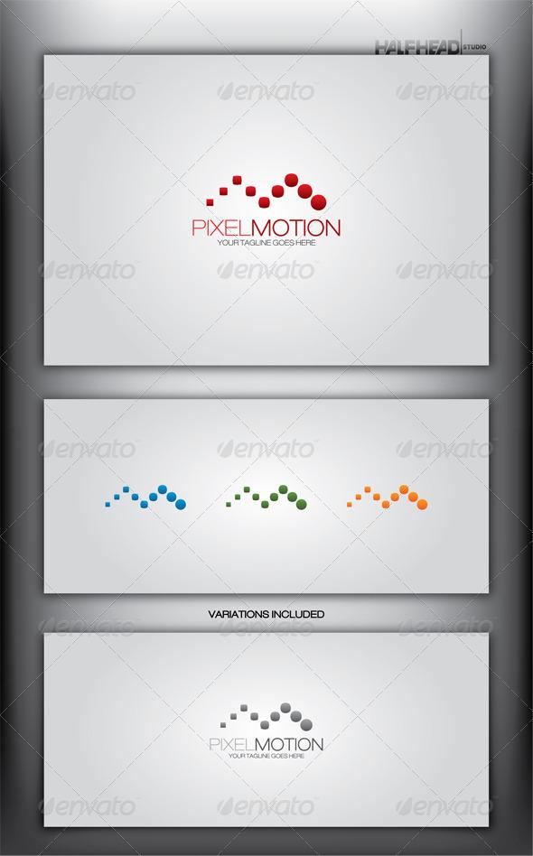 PIXEL MOTION Logo Template - Letters Logo Templates