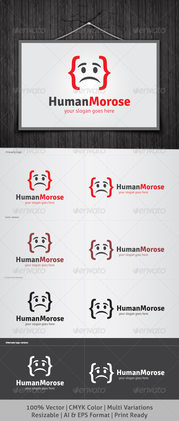 Human Morose Logo - Humans Logo Templates
