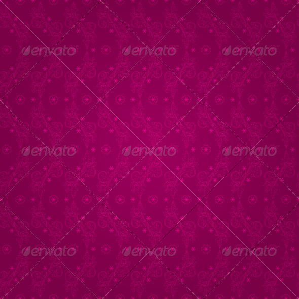 Floral vintage seamless pattern on pink background - Backgrounds Decorative