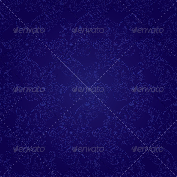 Floral seamless pattern on violet background - Backgrounds Decorative