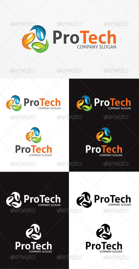 ProTech Logo Template - Vector Abstract