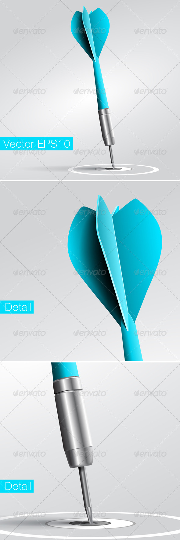 Vector Target and Dart, Excellence Concept. - Vectors