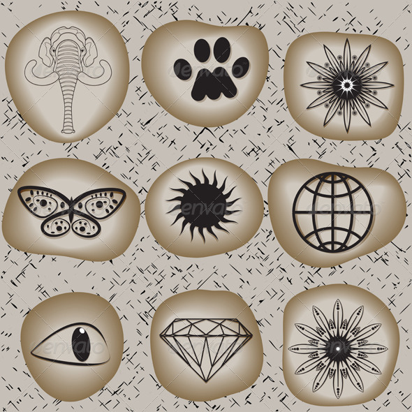 Signs On The Rocks - Patterns Decorative