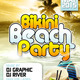 Bikini Beach Party Flyer Template - GraphicRiver Item for Sale