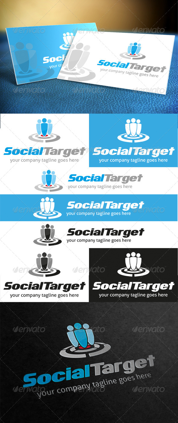 Social Target Logo - Humans Logo Templates