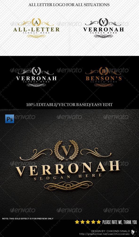 Verrona Logo Template - Crests Logo Templates