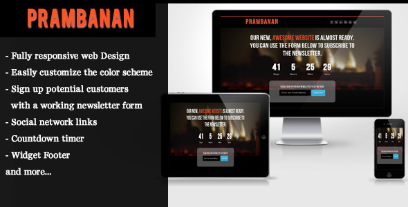 Prambanan – Under Construction HTML Template