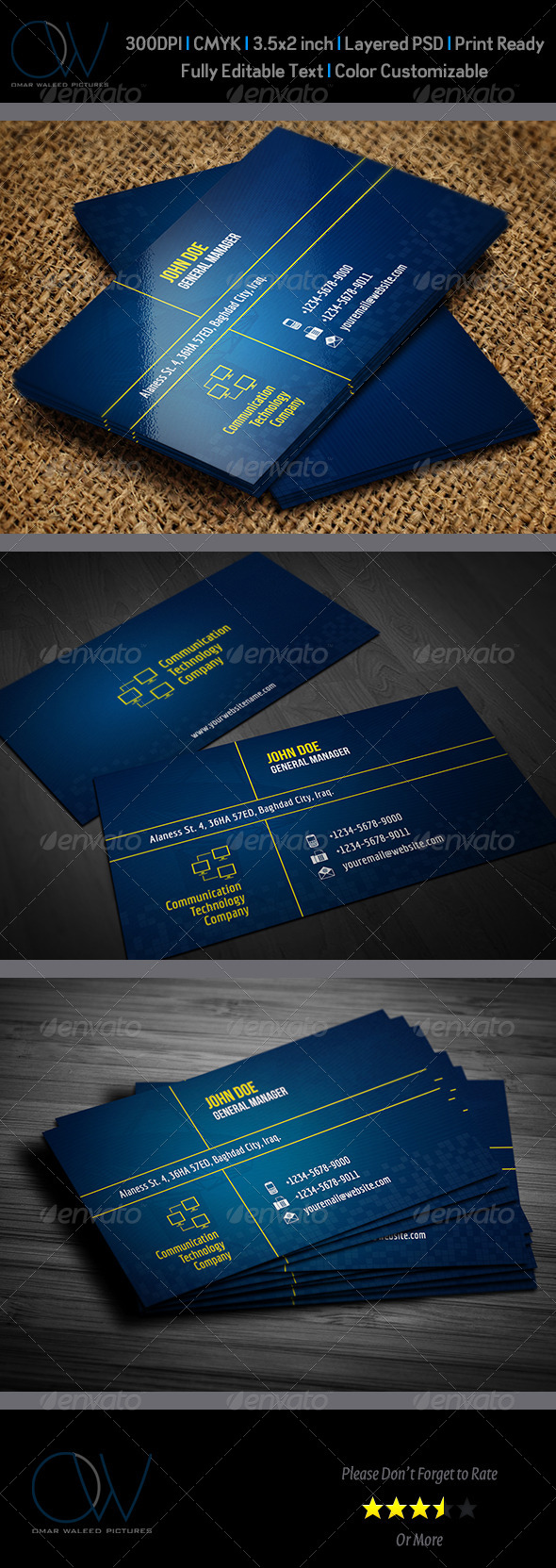 Communication technology business card by owpictures graphicriver communication technology business card creative business cards magicingreecefo Gallery
