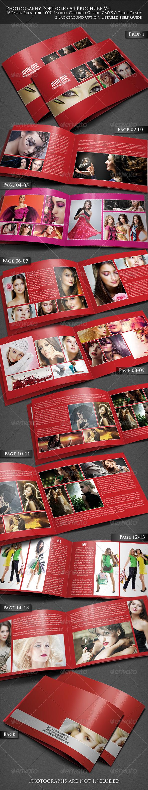 Photography Portfolio A4 Brochure - Portfolio Brochures