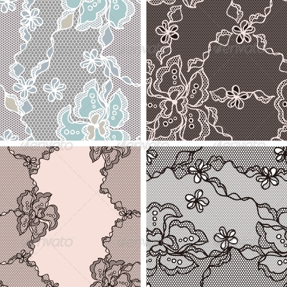 Lace Fabric Seamless Patterns - Patterns Decorative
