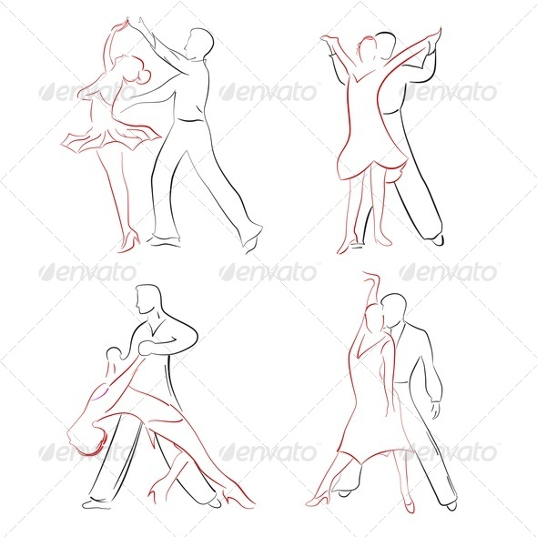 Ballroom Dancing - People Characters
