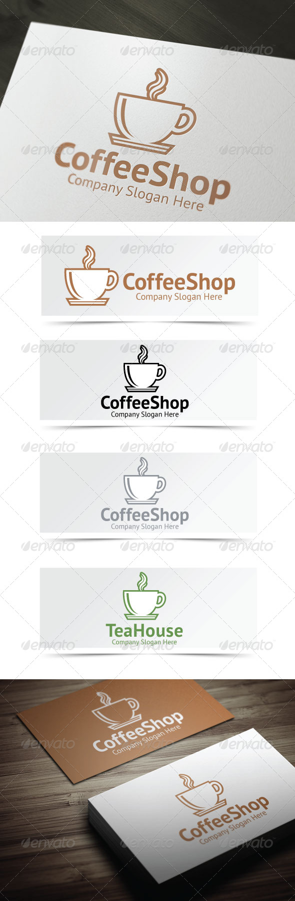 Coffee Shop Logo - Food Logo Templates