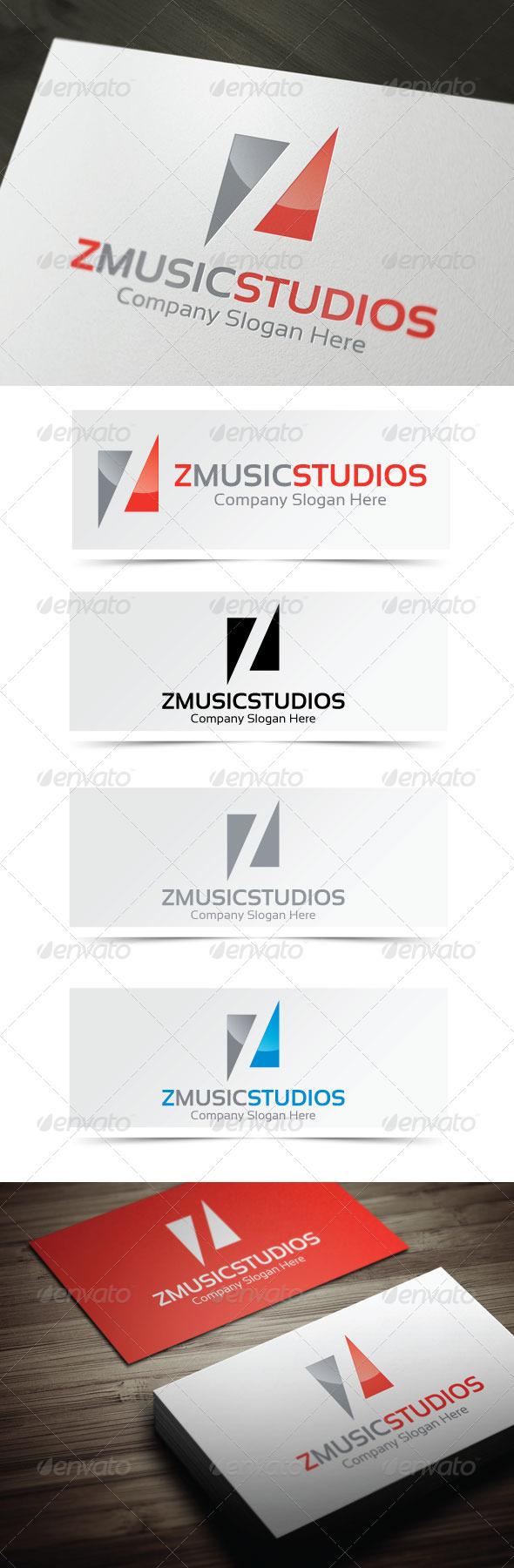Z Music Studios Logo - Letters Logo Templates