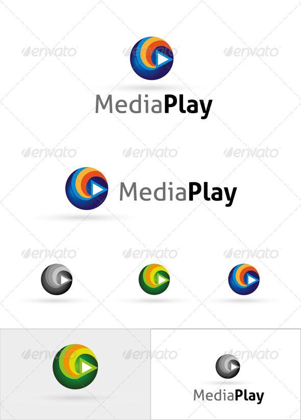 Media Play Logo Template - Symbols Logo Templates
