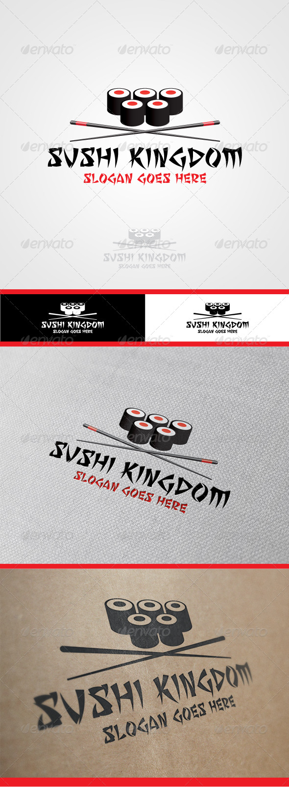 Sushi Kingdom Logo - Food Logo Templates