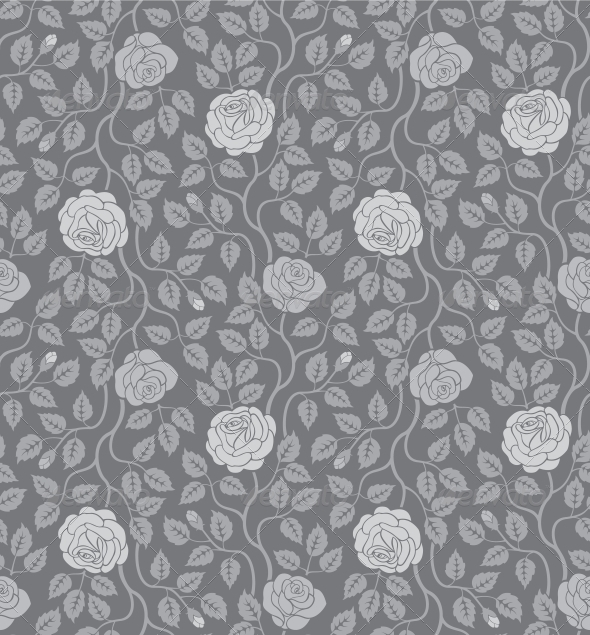 Seamless Flowers and Leaves Pattern - Patterns Decorative