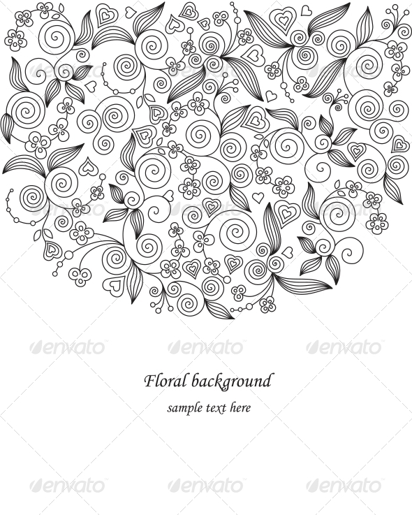 Decorative flower illustration - Weddings Seasons/Holidays