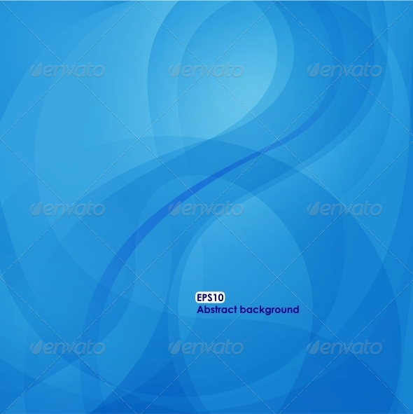 EPS10 Wave Background in Blue Tones - Backgrounds Decorative