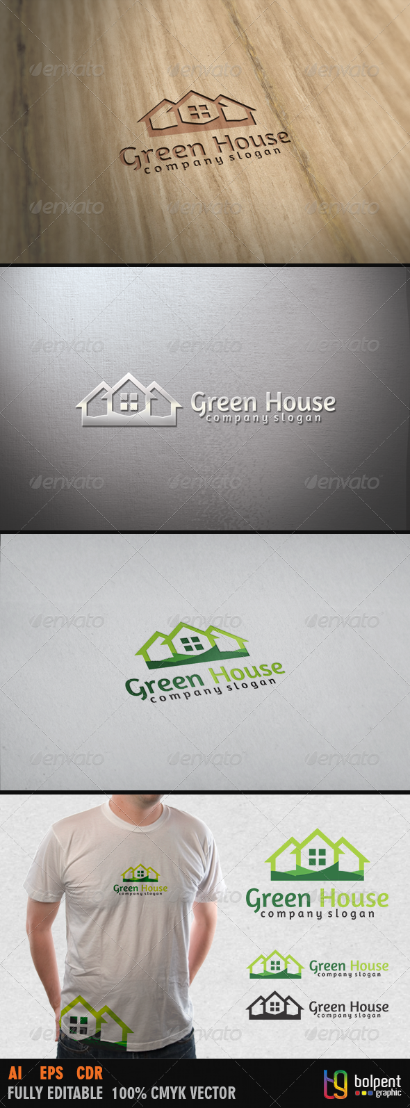 Green House Logo Template - Buildings Logo Templates