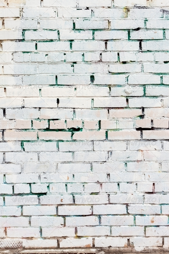 Vintage white background brickwall - Stone Textures
