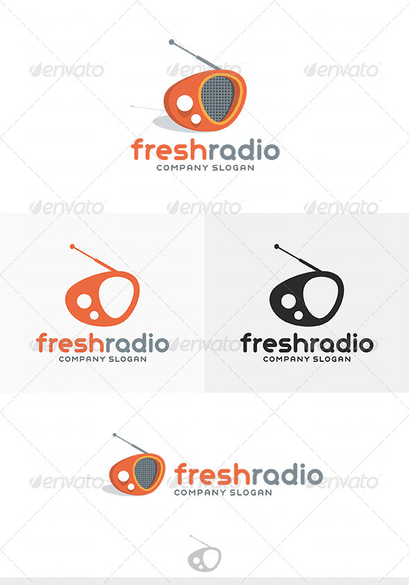 Fresh Radio Logo - Objects Logo Templates