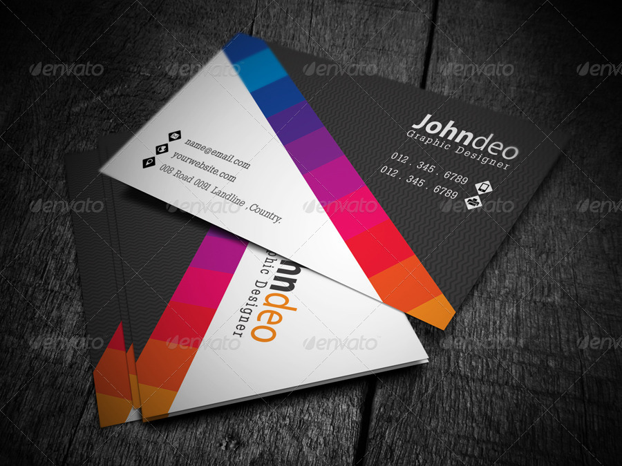 Color business card by axnorpix graphicriver color business card colourmoves