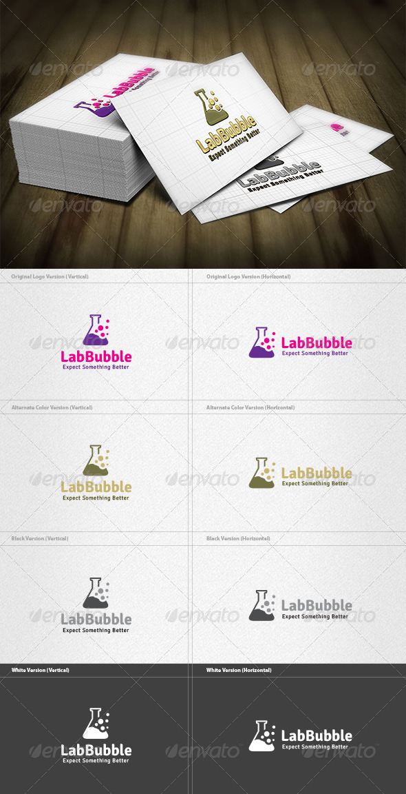 Lab Bubble Logo - Symbols Logo Templates