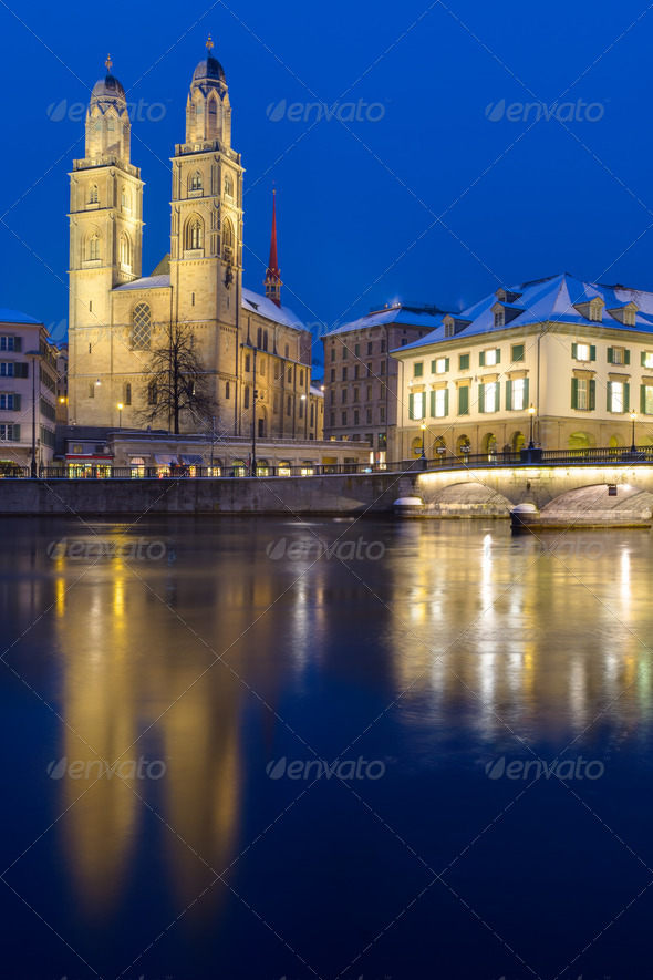 The Minster in Zurich - Stock Photo - Images