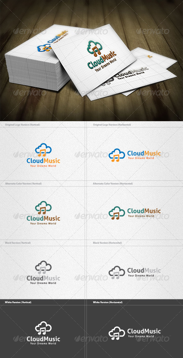 Cloud Music Logo - Symbols Logo Templates