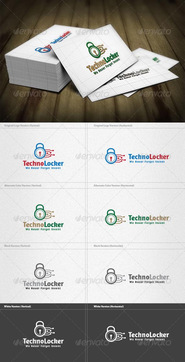 Techno Locker Logo - Symbols Logo Templates