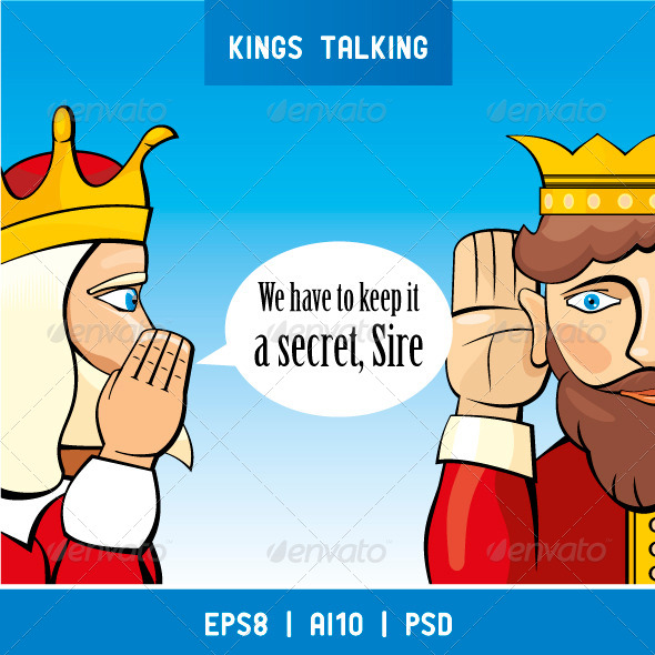 Kings Talking - Characters Vectors