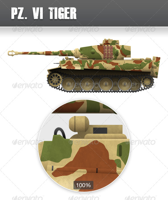 World War 2 Tank, Tiger - Miscellaneous Illustrations
