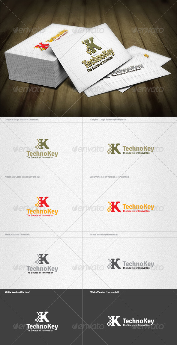 Key Technology Logo - Letters Logo Templates