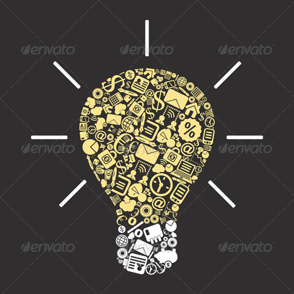 Business a bulb - Concepts Business