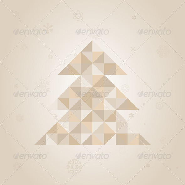 Christmas tree a triangle - Christmas Seasons/Holidays