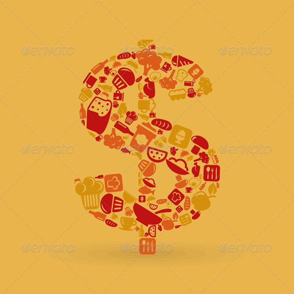 Food dollar - Miscellaneous Vectors