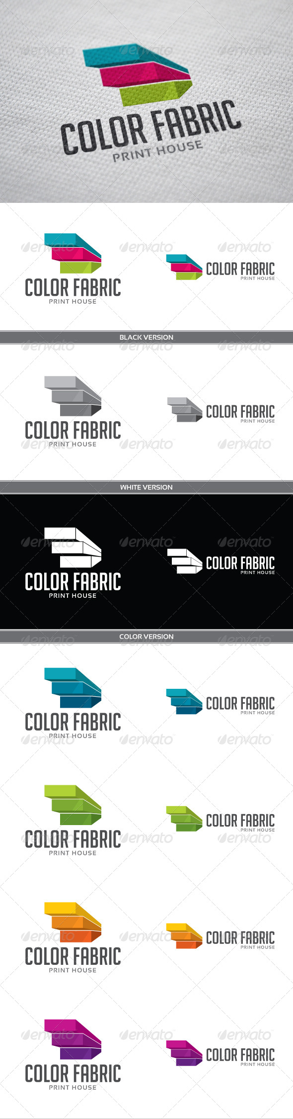 Color Fabric - Objects Logo Templates