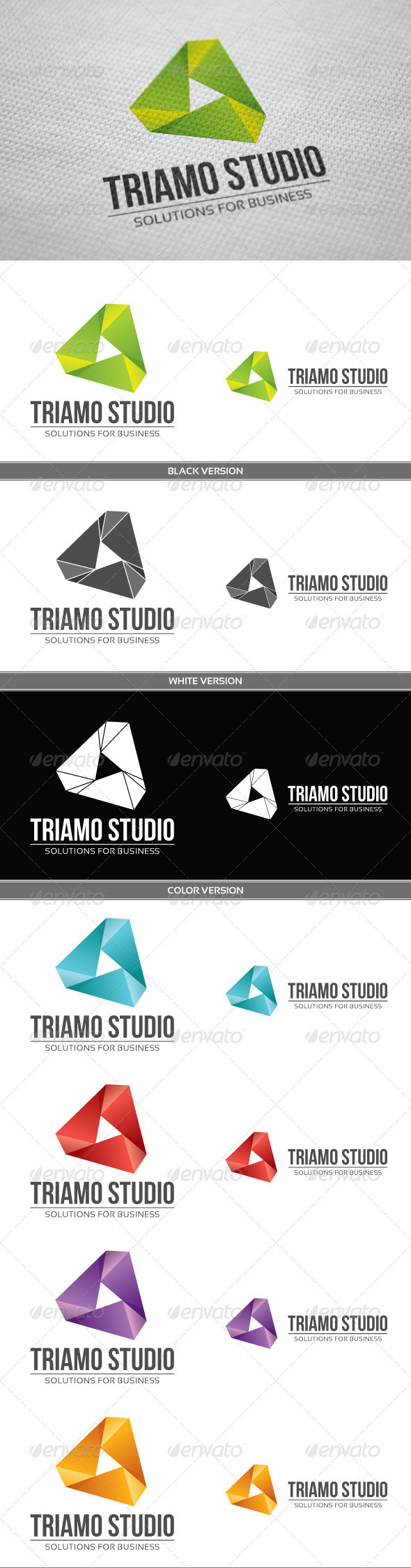 Triamo Studio - Objects Logo Templates