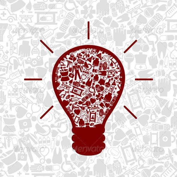 Medicine a bulb - Health/Medicine Conceptual