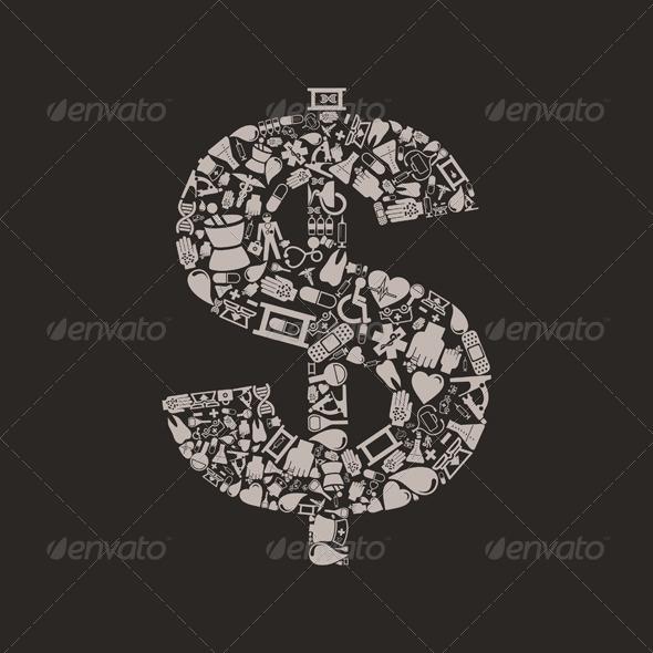 Medicine Dollar - Business Conceptual