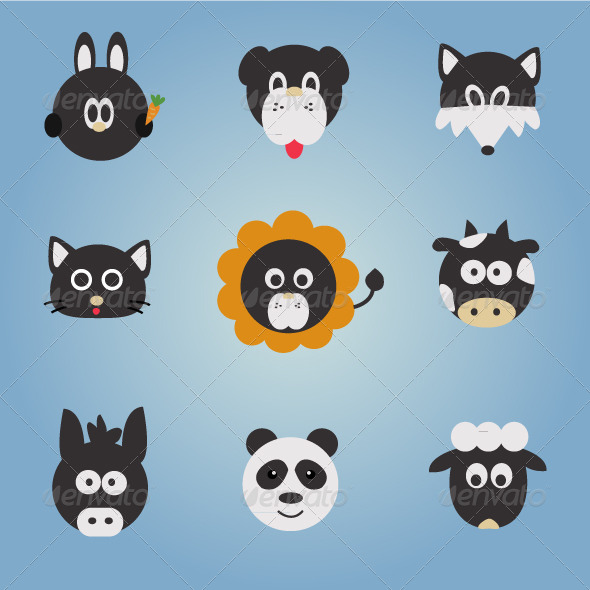 Animal Vector Set - Animals Characters