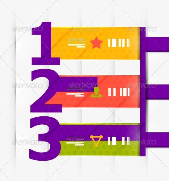 Numbered Banners | Infographics - Communications Technology