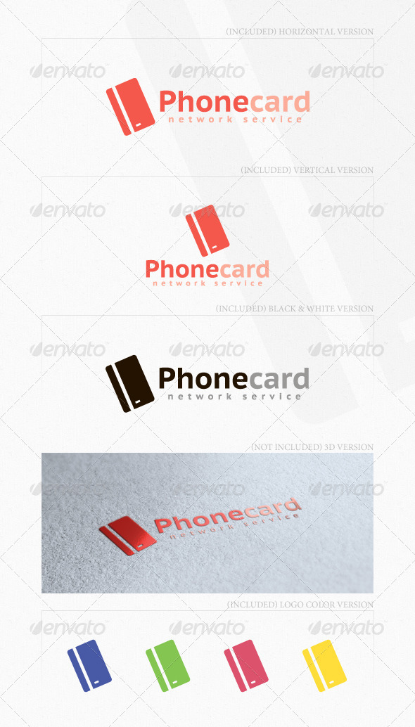 Phone Card Logo - Objects Logo Templates
